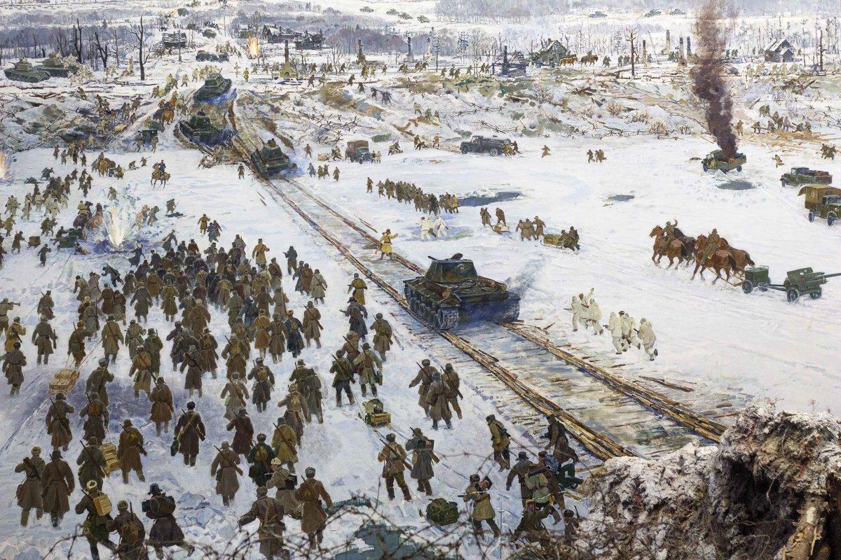 12 января 1943 - Начало прорыва блокады Ленинграда.