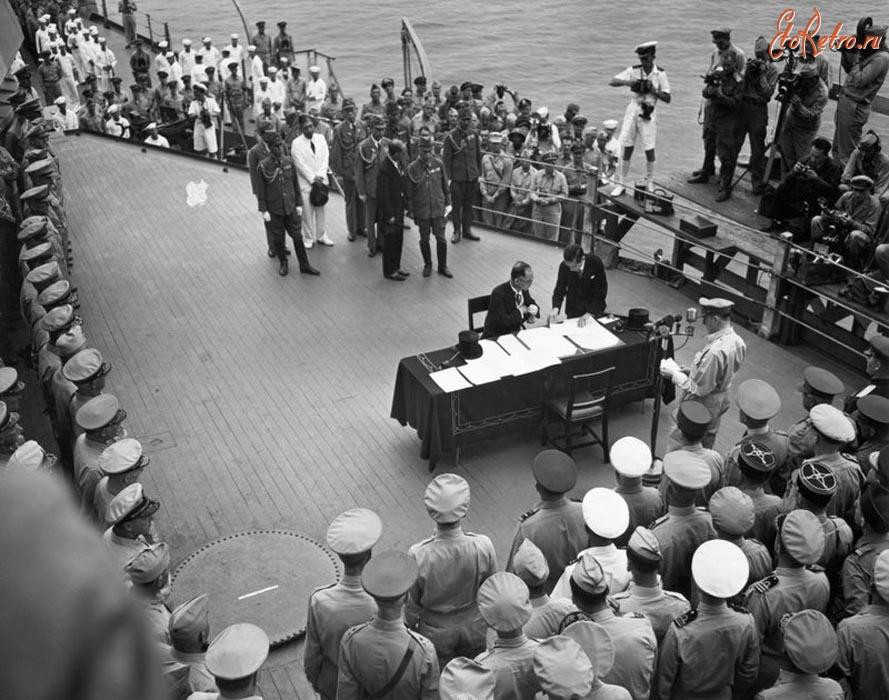 2 cентября 1945 года - подписание Японией акта капитуляции