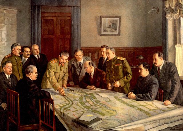 Товарищ Сталин - организатор самого быстрого в мире восстановления народного хозяйства, разрушенного войной