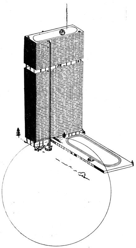 И. И. Леонидов. Проект Дома промышленности. 1930 г